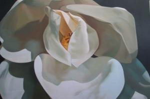Beyaz Çiçekler 1 Yağlı Boya Sanat Kanvas Tablo