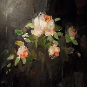 Beyaz Güller İç Mekan Dekoratif Kanvas Tablo