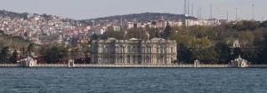 Beylerbeyi Sarayı Panaromik Dünyaca Ünlü Şehirler Kanvas Tablo