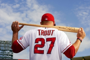 Beyzbol Mike Trout Los Angeles Spor Kanvas Tablo