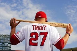 Beyzbol Mike Trout Los Angeles Spor Kanvas Tablo