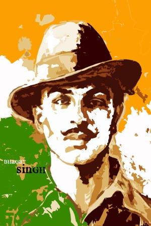 Bhagat Singh Portre Yağlı Boya Sanat Kanvas Tablo