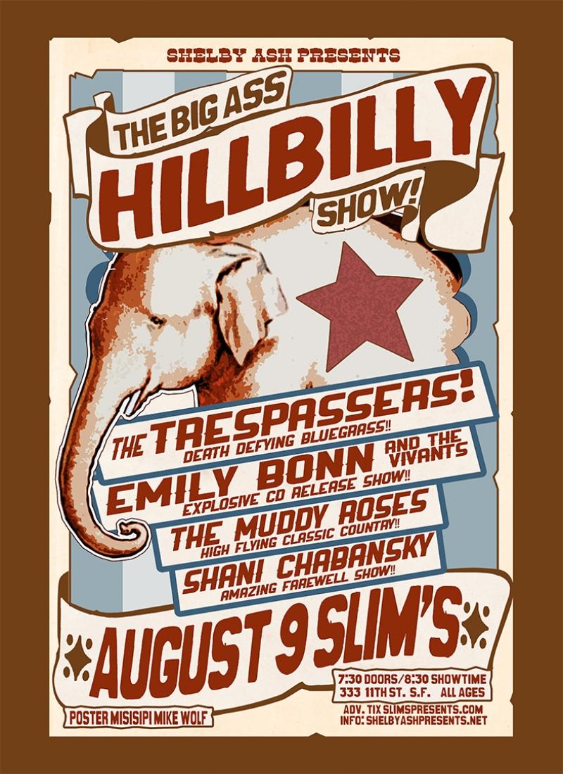 Bigg Ass Hillbilly Summer 2013 Poster Kanvas Tablo