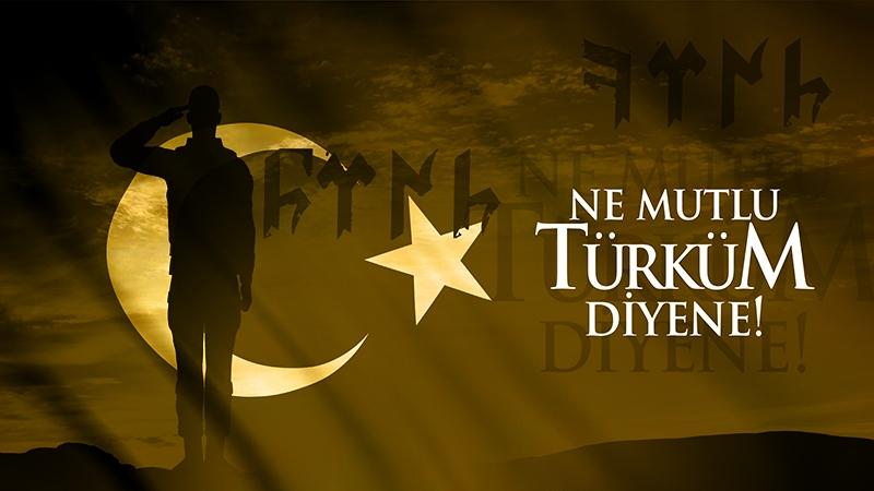 Bir Olur Bin Diriliriz-1-Mehmetçik Türk Bayrağı Temalı Kanvas Tablo