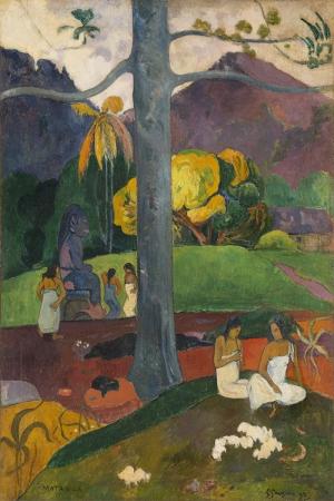 Bir Zamanlar Mata Mua Erase Vez Paul Gauguin Reproduksiyon Kanvas Tablo
