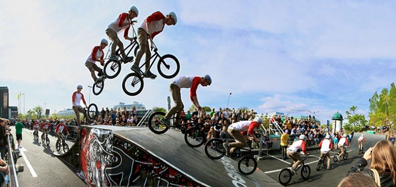 Bisiklet Akrobasi Spor Kanvas Tablo