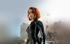 Black Widow Marvel Süper Kahramanlar Popüler Kültür Kanvas Tablo