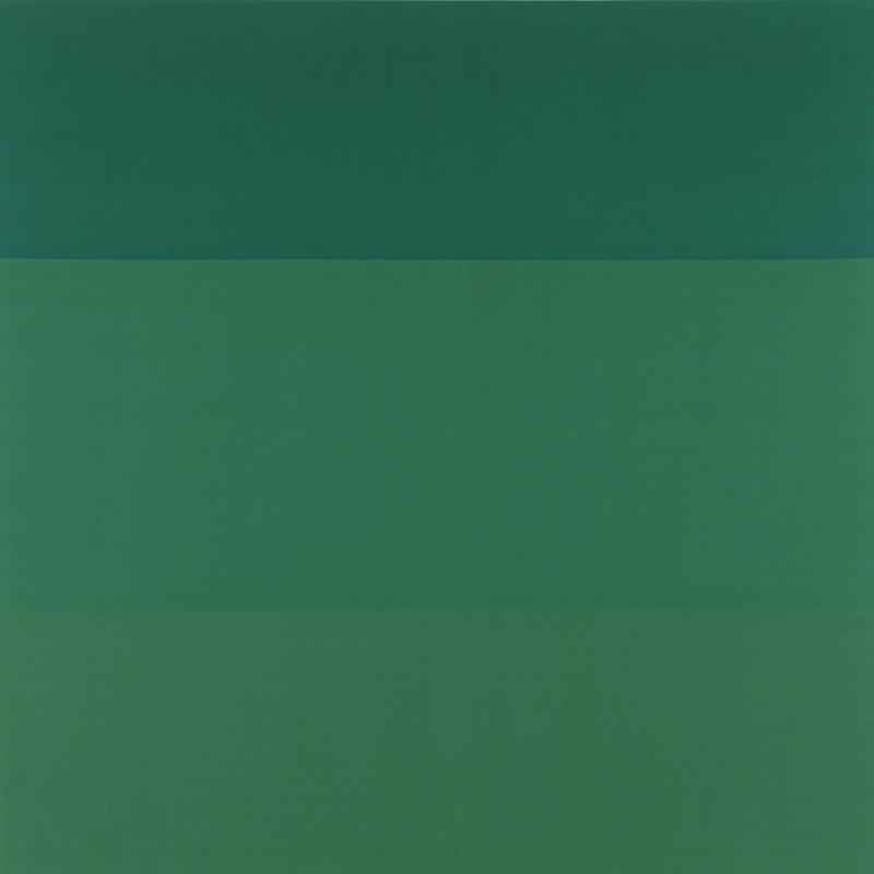 Blinky Palermo Yeşil Zemin Yağlı Boya Klasik Sanat Kanvas Tablo