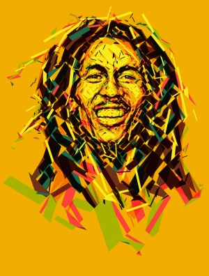 Bob Marley Popüler Kültür Kanvas Tablo