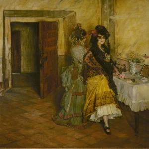 Boğa Güreşi Hazırlıklari 1903 İgnacio Zuloaga Klasik Sanat Kanvas Tablo