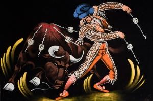 Boğa Matador Madrid İspanya Yağlı Boyama Sanat Kanvas Tablo