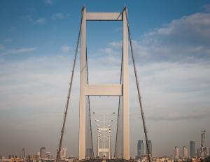 Boğaz Köprüsü İstanbul 2 Dünyaca Ünlü Şehirler Kanvas Tablo