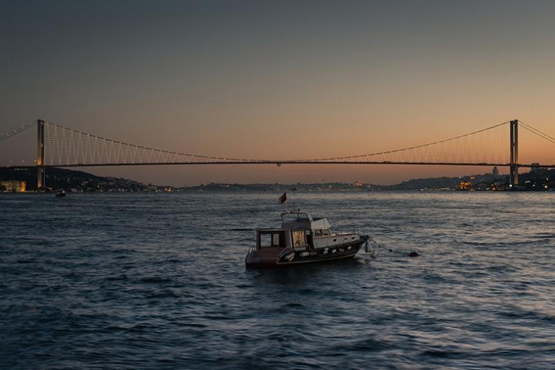 Boğaz Köprüsü İstanbul Dünyaca Ünlü Şehirler Kanvas Tablo