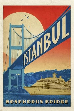 Boğaz Köprüsü Şehirler Kanvas Tablo