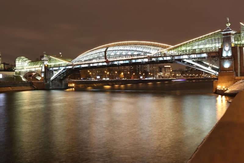 Bogdan Hmelnitsky Köprüsü Moskova Nehri Dünyaca Ünlü Şehirler Kanvas Tablo