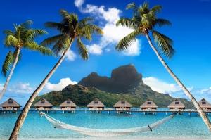 Bora Bora Fransız Polinesia Doğa Manzaraları Kanvas Tablo
