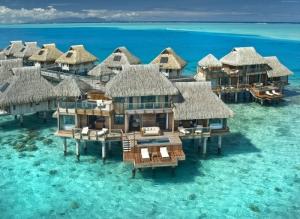 Bora Bora Sahili Polinesia Doğa Manzaraları Kanvas Tablo