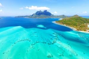 Bora Bora Sahilleri Fransa Doğa Manzaraları Kanvas Tablo