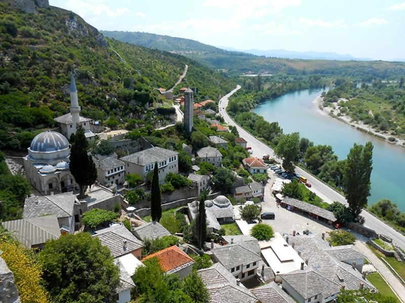 Bosna 3 Dünyaca Ünlü Şehirler Kanvas Tablo