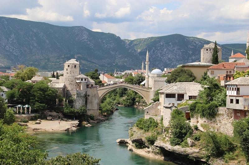 Bosna 4 Dünyaca Ünlü Şehirler Kanvas Tablo