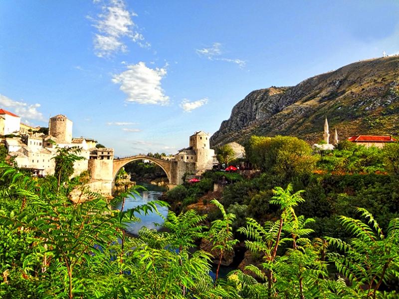 Bosna Manzara Dünyaca Ünlü Şehirler Kanvas Tablo