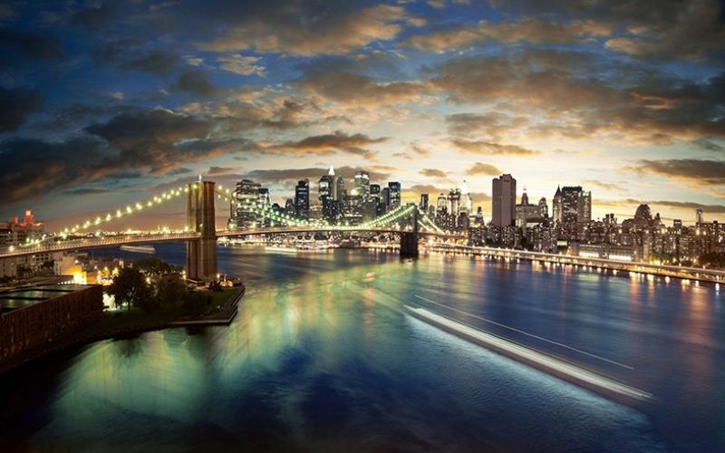 Boston 2 Dünyaca Ünlü Şehirler Kanvas Tablo