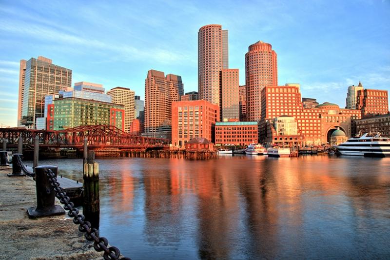 Boston Dünyaca Ünlü Şehirler Kanvas Tablo
