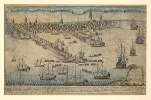 Boston Yeni Ingiltere Bolgesi Koloni Amerika Eski Antik Cicim Harita Cografya Kanvas Tablo