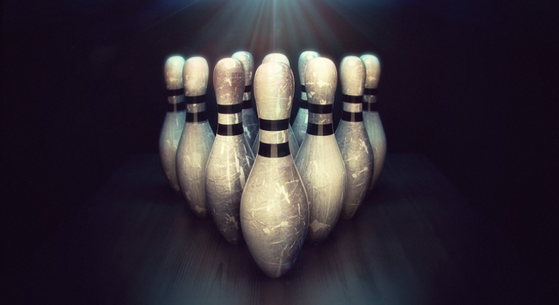 Bowling Oyun Spor Kanvas Tablo