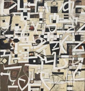 Bradley Walker Tomlin Labirent Yirmi Numara Yağlı Boya Klasik Sanat Kanvas Tablo