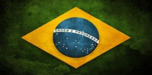 Brezilya Bayrağı, Retro Vintage Kanvas Tablo