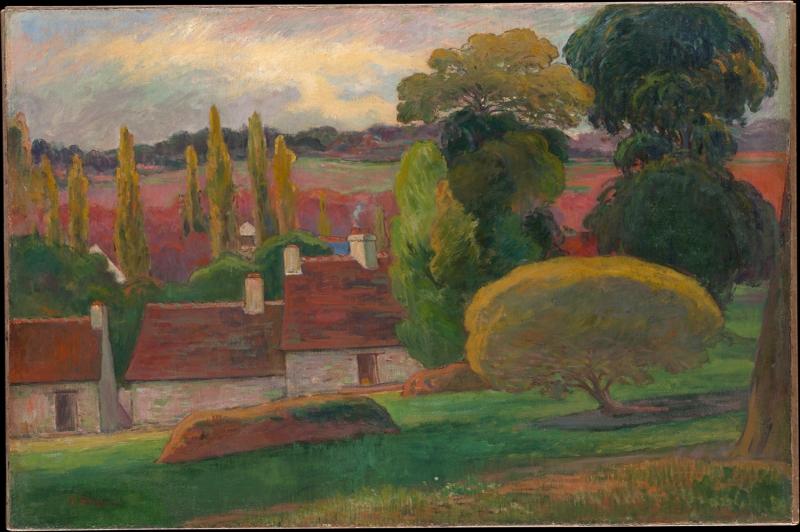 Britanya da Bir Çiftlik, A Farm In Brittany Paul Gauguin Reproduksiyon Kanvas Tablo