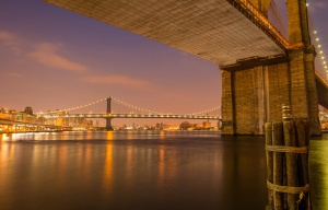 Brooklyn Bridge Dünyaca Ünlü Şehirler Kanvas Tablo