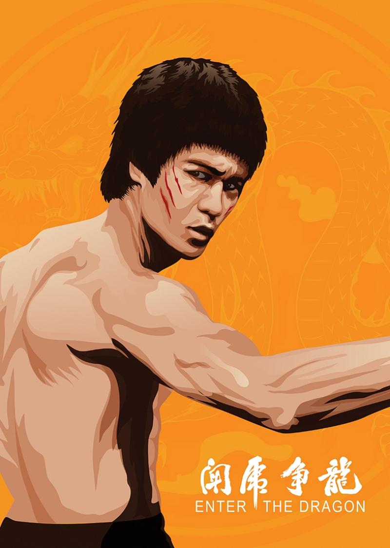 Bruce Lee Ünlü Yüzler Kanvas Tablo