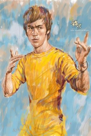 Bruce Lee Uzak Doğu Dövüş Sanatları Modern Sanat Kanvas Tablo