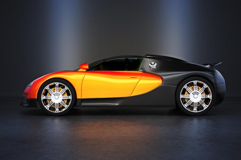 Bugatti Veyron Otomobil Araçlar Kanvas Tablo
