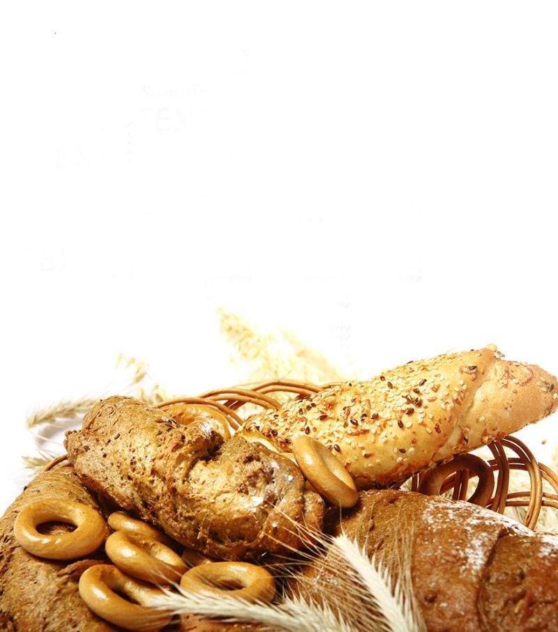 Buğday Tahıl Unlu Mamülleri Ekmek Sepeti 4 Lezzetler Kanvas Tablo
