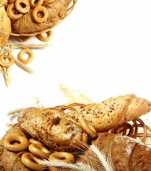 Buğday Tahıl Unlu Mamülleri Ekmek Sepeti 5 Lezzetler Kanvas Tablo