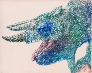 Bukalemun İllustrasyon Hayvanlar Kanvas Tablo