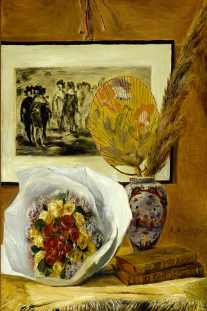 Buket Naturmortu, Pierre August Renoir Still Life With Bouquet Klasik Sanat Kanvas Tablo