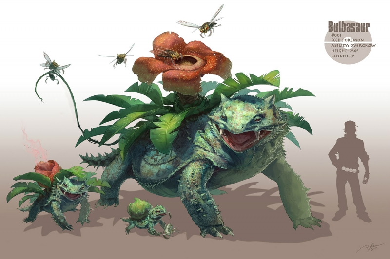 Bulbasaur 5 Pokemon Karakterleri Kanvas Tablo