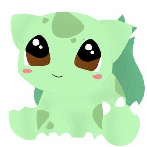 Bulbasaur Kawaii 6 Pokemon Karakterleri Kanvas Tablo