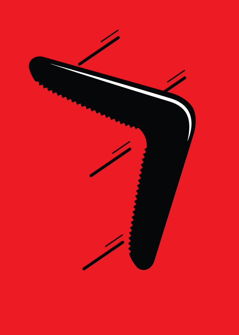 Bumerang İllustrasyon Popüler Kültür Kanvas Tablo