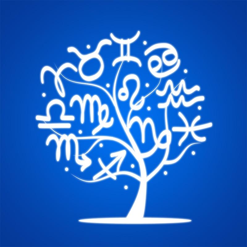 Burç Ağacı Astroloji & Burçlar Kanvas Tablo