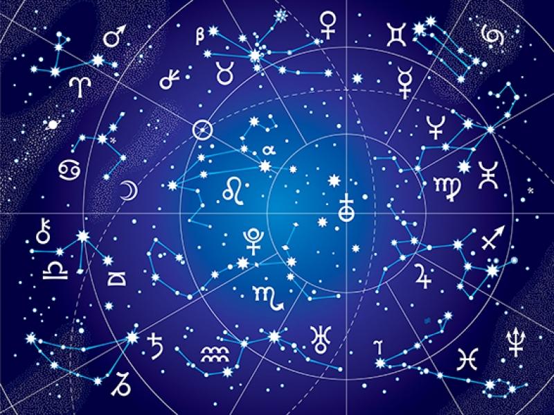 Burçlar ve Yıldızlar Astroloji & Burçlar Kanvas Tablo