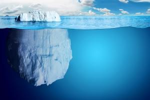 Buz Dağı ve Görülmeyen Kısmı Doğa Manzaraları Kanvas Tablo
