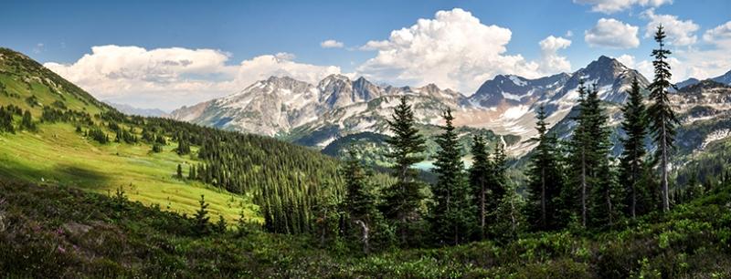 Buz Dağları ve Doğa Panaroma Panaromik Manzara Kanvas Tablo