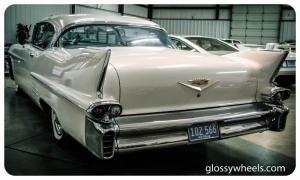 Cadillac Beyaz Klasik Otomobiller Siyah Eski Amerikan Klasik Arabalar Kanvas Tablo