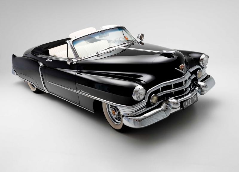 Cadillac Klasik Otomobiller Cady 1950 4 Siyah Eski Amerikan Klasik Arabalar Kanvas Tablo