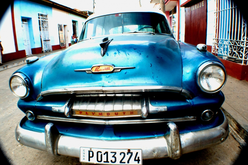 Cadillac Mavi Klasik Otomobiller 3 Siyah Eski Amerikan Klasik Arabalar Kanvas Tablo